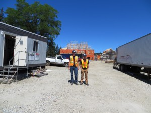 YCMHS Students Connor Wells (Graves Electrical) & Gavin Eldridge (PCL) on site at the Villa St. Joseph in Yarmouth.
