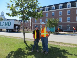 SAERC student Keisha MacDougall & her mentor Neil Ingraham (Bird) on site at St. FX University.